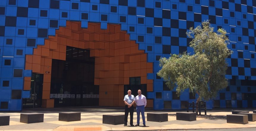 Peter Kapsanis and Brent Rudler in Port Hedland