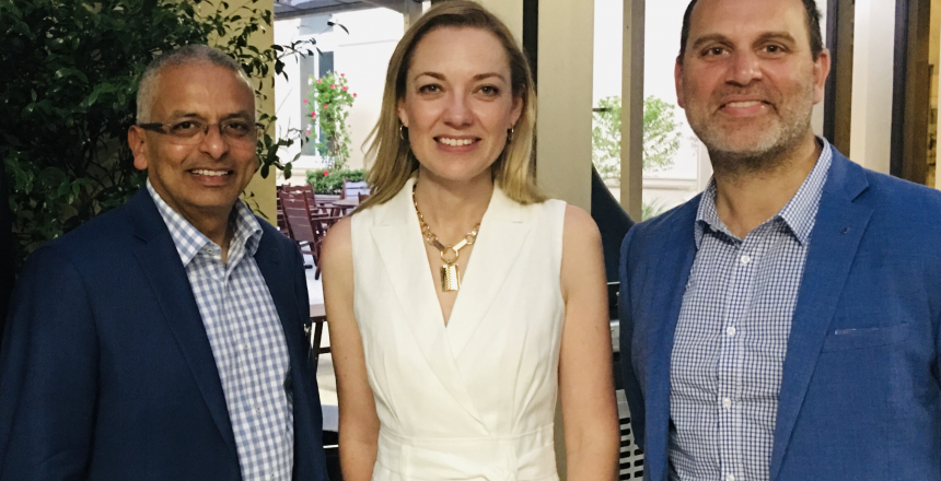 Pierre Sequeira, WA Nationals Leader Mia Davies and LSAWA Media and Government Relations Manager Peter Kapsanis
